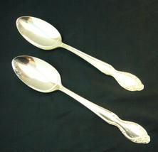 "Rogers & Bro Silvery Mist 8 1/2"" Silverplate Spoons x 2 - $18.57"