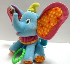 Disney Baby Plush Dumbo Activity Crib Toy Rattle Teethers Chime Crinkle ... - $21.78