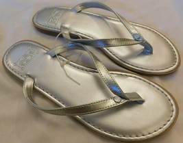 UGG Australia Silver Leather Sandals Size 6 - $40.49