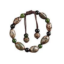 Retro Chinese Style Ethnic Handmade Bracelets Woven Jewelry Agate Bracelet