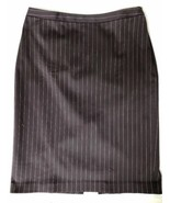 Banana Republic Stretch Womens 4 Brown Pink Pinstripe Work Career Pencil... - $17.79