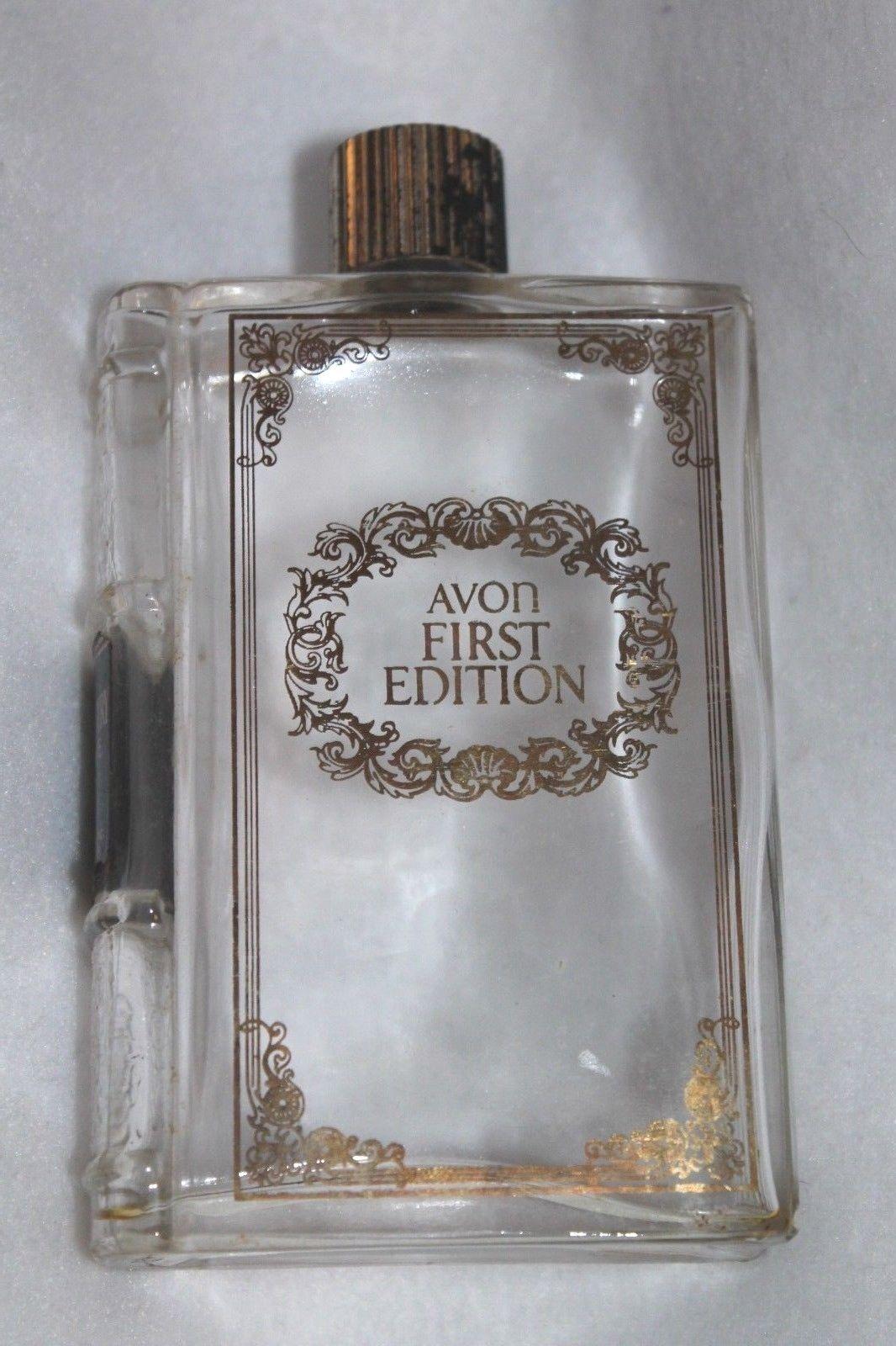 Vintage Empty Avon Aftershave Bottle - 6 OZ - Book Design