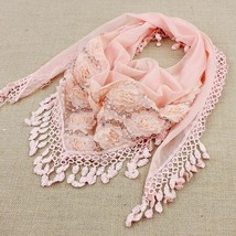 1PC New Fashion Female Women Tassel Scarves Shawls Silk Flower Lace  Hea... - $9.99