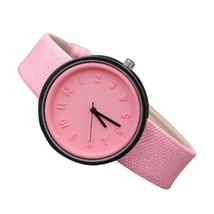 Round Simple Fashion Watches Canvas Belt Unisex Casual Wristwatch Box image 4