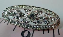 Napier brooch rhinestone embellished signed vintage pin - $13.37
