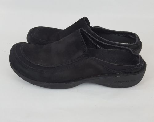 Merrell mules clogs midnight black suede women's 8.5