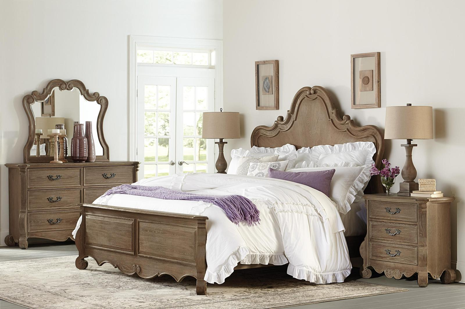 crenshaw french country scrolled frame 4pc bedroom set cal