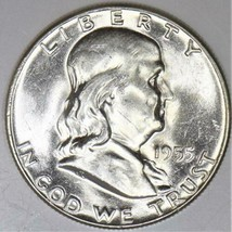 1955 Franklin Half Dollar; Choice BU   - $42.56