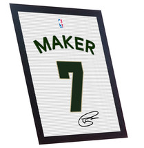 Thon Maker autograph signed printed on CANVAS 100% Cotton Framed - $21.62