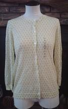 Loft Ann Taylor Womens Sweater Blouse Top Size M New Button Down Long Sl... - $28.04
