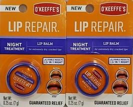 O'Keeffe's Lip Repair Night Treatment Lip Balm .25oz Jar Lot of 2 New - $13.36
