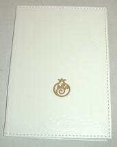 Judaica White Leather Birkat Hamazon Food Blessing Sephardic Prayer Hebrew image 5