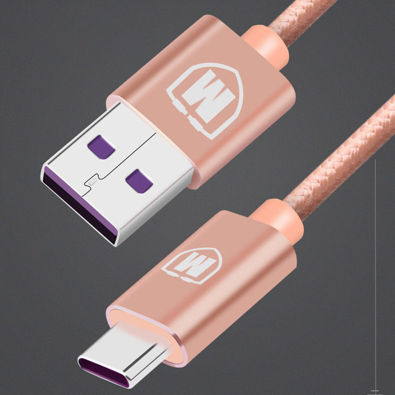 1M/2M HUAWEI Supercharge Cable 5A USB 3.1 TYPE C Fast Charger Data Cable For