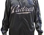 MLB San Diego Padres Men's Big & Tall Full Zip Tricot Reflective Track Jacket - $37.95