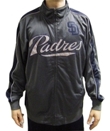 MLB San Diego Padres Men's Big & Tall Full Zip Tricot Reflective Track J... - $39.95