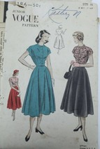 VTG1950s Sewing Pattern Vogue #3186 SZ 15 Bust 33 Hip 37 Dress New Look ... - $22.30