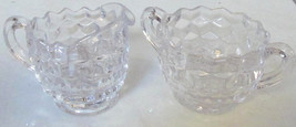 Vintage Indiana Glass Whitehall Pattern Clear Glass Mini Sugar & Milk Container  - $15.19