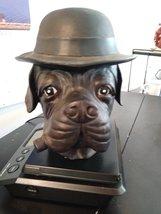 Vintage Bulldog Dog Derby & Cigar Container Dish Figurine Tobacco Jar Humidor Co image 2