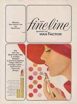 Lipstick Max Factor Fineline Lipstick 1962 Ad Wedge Tip Never Loses Shape - $12.99