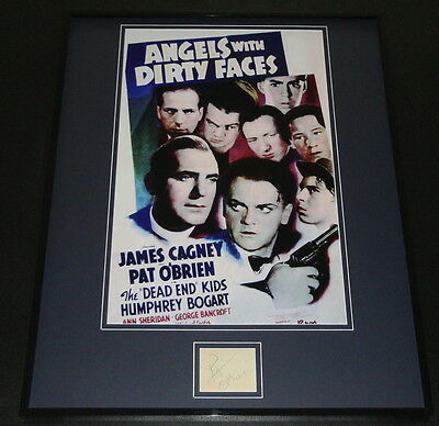 Pat O'Brien Signed Framed 16x20 Angels With Dirty Faces Poster Display JSA