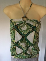 Gap Geo Print Banded Tube Halter Top With Wooden Ring Xsmall - $5.89