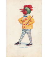 "1906 ""Crowing Again"" Dressed Chicken/Rooster Postcard - $5.95"