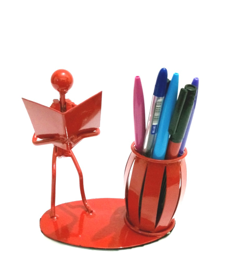 Desk Organizer Bookman Pen/Pencil/Crayons/Liners/Make Up Brushes  Holder-Metal