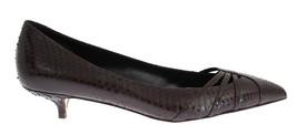 Dolce & Gabbana Women Brown Snakeskin Kitten Heels Pumps EU36/US5.5 - $247.67