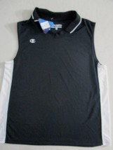 Champion Women Top L Black Solid V Neck Collar Polyester Sleeveless 1800 - $6.33