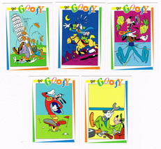 Lot of 5 Disney Get Goofy SkyBox Trading Cards 174 177 183 186 194 - $1.50