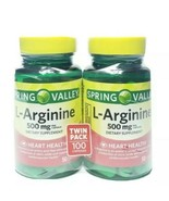 2pk Spring Valley L-Arginine Capsules, 500mg, 50 Count - $11.88