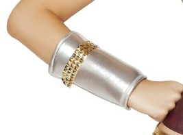 Roma Costume Women's Wrist Cuffs Gold Trim Detail, Silver/Gold, One Size - $24.61