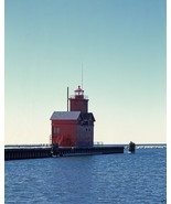 "Holland Harbor Light lighthouse ""Big Red"" Lake Michigan - New 8x10 Photo - $7.05"