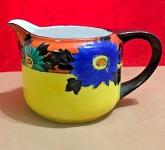 "Noritake(Made In JAPAN/NIPPON) Yellow Orange Blue Floral Creamer 3 1/2"" - $22.45"