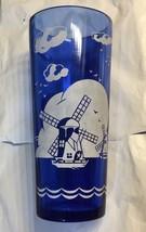 Vintage Cobalt Blue Glass ~ Hazel Atlas ~ Windmill Cocktail Shaker ~ Mid Century - $12.73