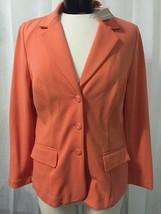 Chico's Women's Blazer Patricia Komodo Coral Ponte Chico's Size 1 / 8 NWT - $35.63
