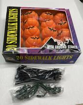 Scarewear 20 Pumpkin Sidewalk String Plastic Mold Halloween Lights # 809... - $38.69
