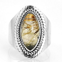 Golden Rulite 925 Sterling Silver Ring Jewelry s.6 SDR2234 - $26.66