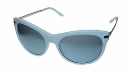 Guess Womens Sunglass Soft Plastic Cateye, White, Pink Flash Lens 7317 - $35.99