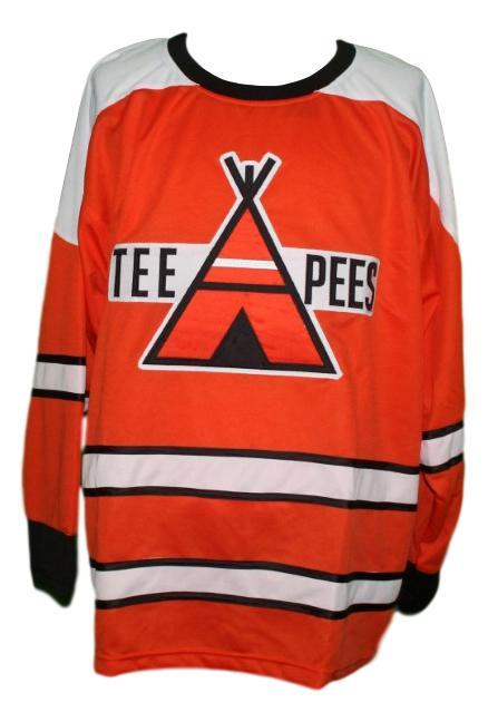 St catharines teepees retro hockey jersey orange   1