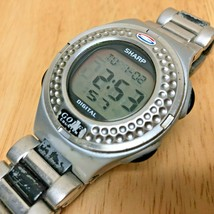 Vintage Sharp Mens 50m Golf Counter Digital Alarm Chrono Watch Hours~New... - $23.74