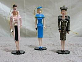 1995 Ashton-Drake Heirloom Ornaments Club - Mattel Classic Barbie 3 PC S... - $24.70