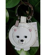 Coach Patent Leather Polar Bear Keychain Key Fob 93015 NWT - $39.00