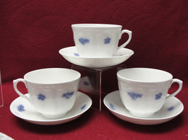 THREE (3) ADDERLEY China - BLUE CHELSEA Pattern - CUP & SAUCER SETS - $36.21