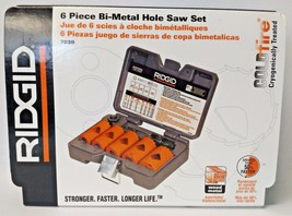RIDGID 7039 6 Piece Bi-Metal Hole Saw Set Cobalt Industrial Grade Steel USA - $24.75