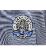 Slazenger Polo Shirt Mens Size Medium Striped Golf Whistling Straits Wis... - $12.86