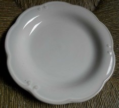 Vintage BOMBAY COMPANY White Dinner Plate Scalloped Edge - $27.72