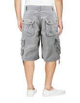 Men's Relaxed Fit Multi Pocket Cotton Casual Military Cargo Shorts image 7
