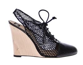 Dolce & Gabbana Women Black Snakeskin Leather Wedges Shoes EU39/US8.5 - $240.35
