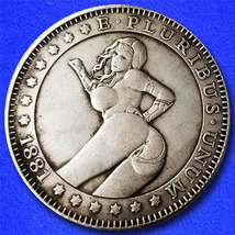 "Sexy Girl 16 ""Hobo Nickel"" on Morgan Dollar Coin ** - $3.79"